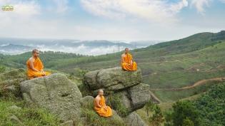 Nơi non thiêng Thành Đẳng - Tăng chúng Ba Vàng thực hành hạnh đầu đà, giữ gìn mạng mạch Phật Pháp